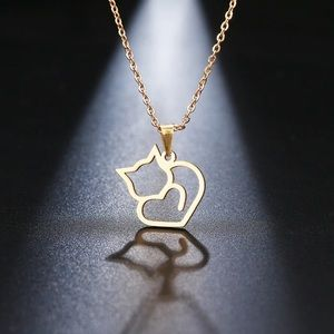 Jewelry - Stainless Steel ♡ CAT LOVER Necklace